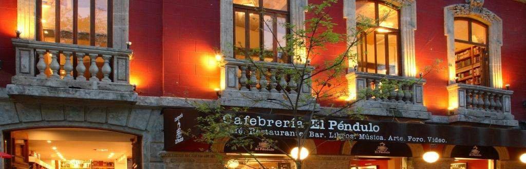 Фото Кафе - книжный магазин Эль Пендуло. Мексика, Distrito Federal, Del. Cuauhtemoc, Calle Hamburgo, 108