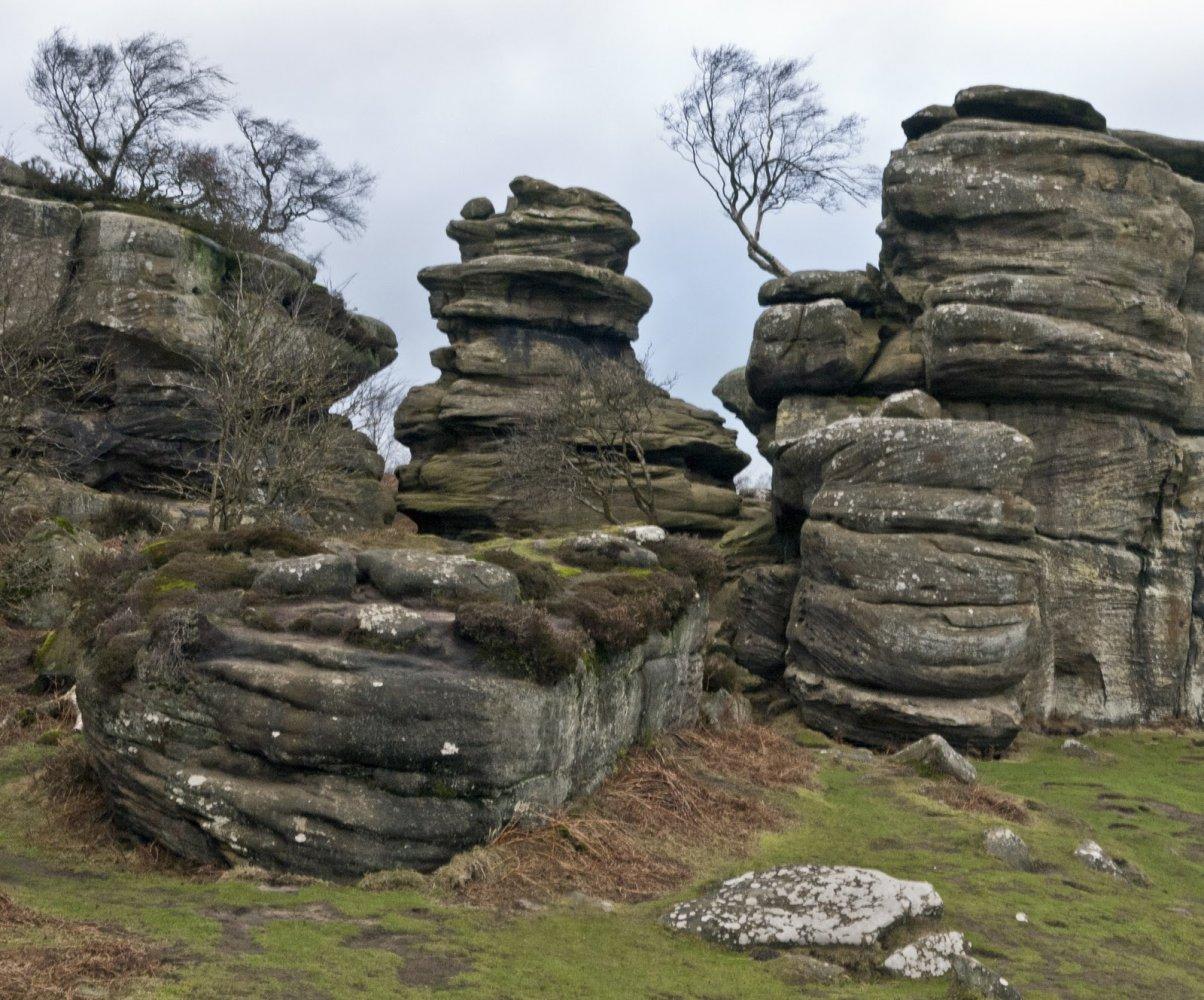 Фото Скалы Бримхама. Великобритания, Brimham Rocks Road,