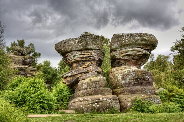 Фото Скалы Бримхама. Великобритания, Brimham Rocks Road,