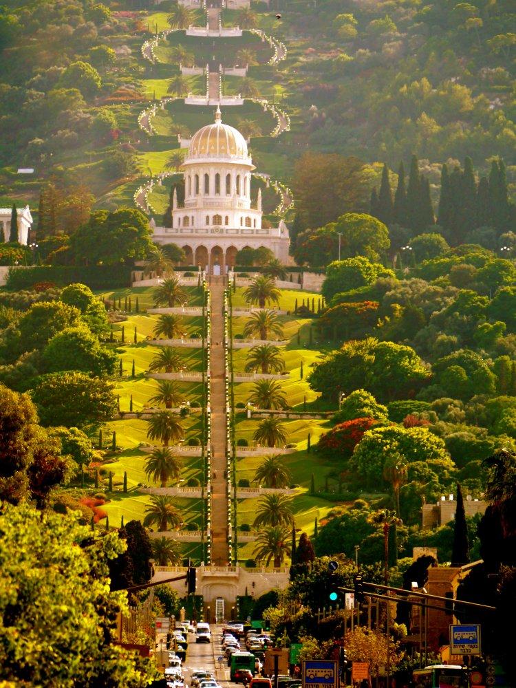 Фото Висячие сады Хайфы. Израиль, Хайфа, Sderot Hatsiyonut