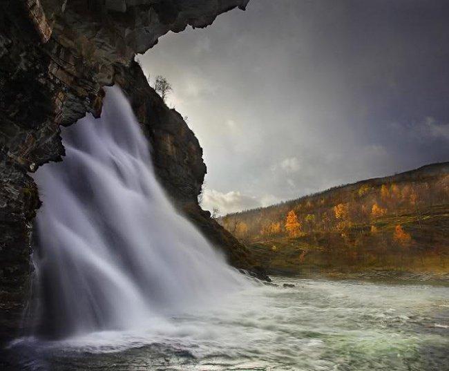 Фото Водопад Ровийоки. Норвегия, Тромс, E8, 114