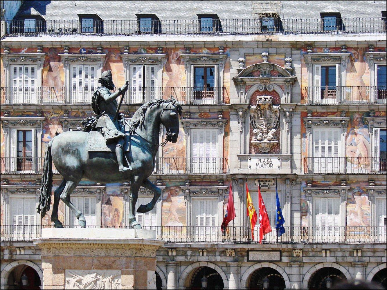 Фото Площадь Майор в Мадриде. Испания, Comunidad de Madrid, Madrid, Plaza Mayor, 2-22