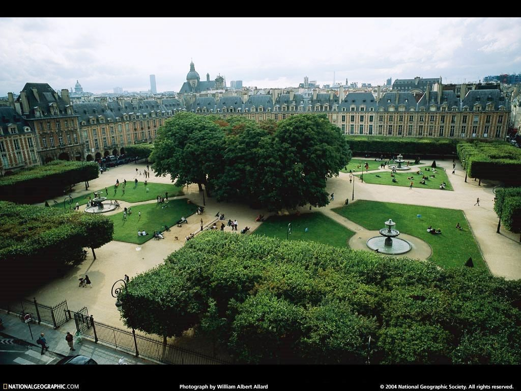 Фото Площадь Вогезов. Франция, Иль-де-Франс, Париж, Площадь Вогезов, 9037