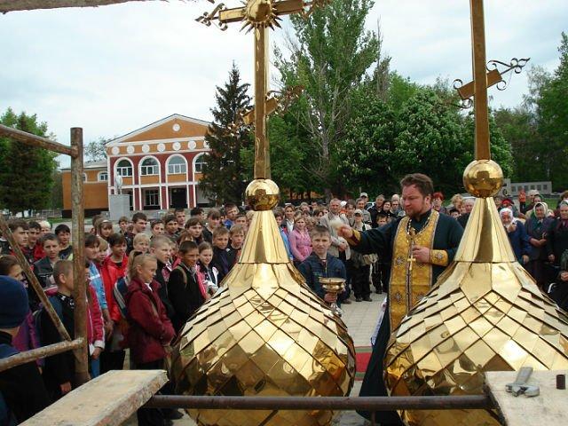 Фото Освещение куполов. Россия, Белгородская область, Р187