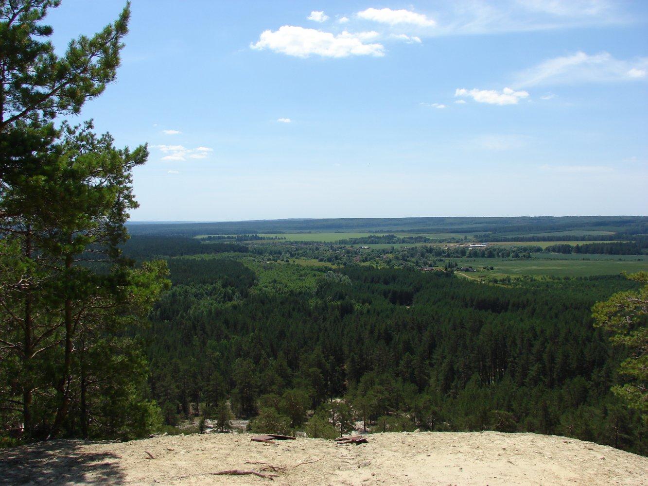 Фото Вид с Лысой горы. Россия, Ульяновская область, Unnamed Road