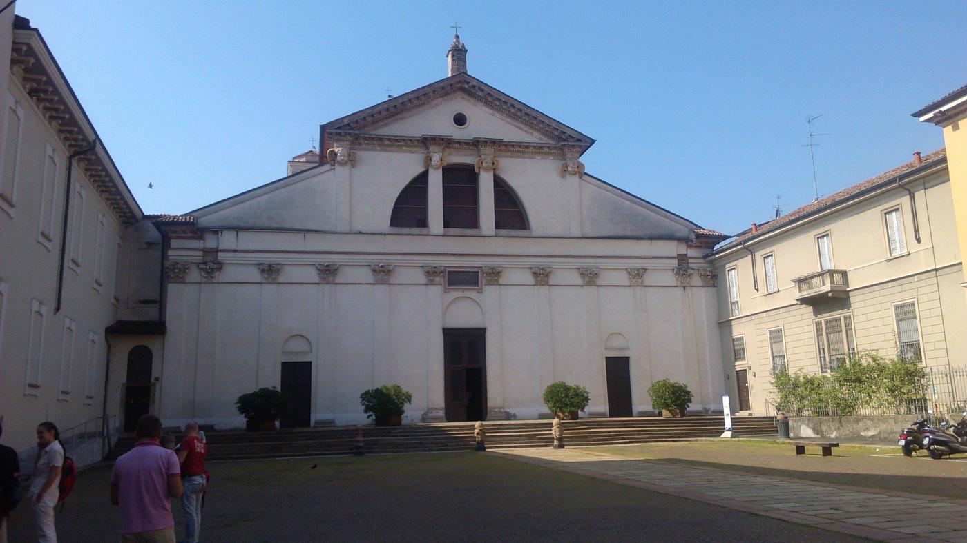 Фото Площадь перед музеем Леонардо Давинчи.jpg. Италия, Lombardia, Milano, Via San Vittore, 13