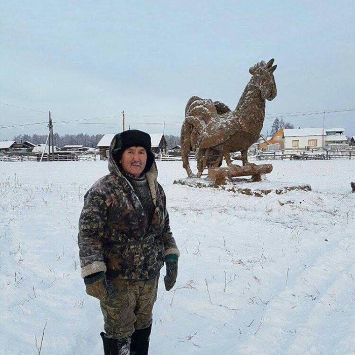 Фото Петух из навоза. Россия, Саха республика, Uolba, Р-504