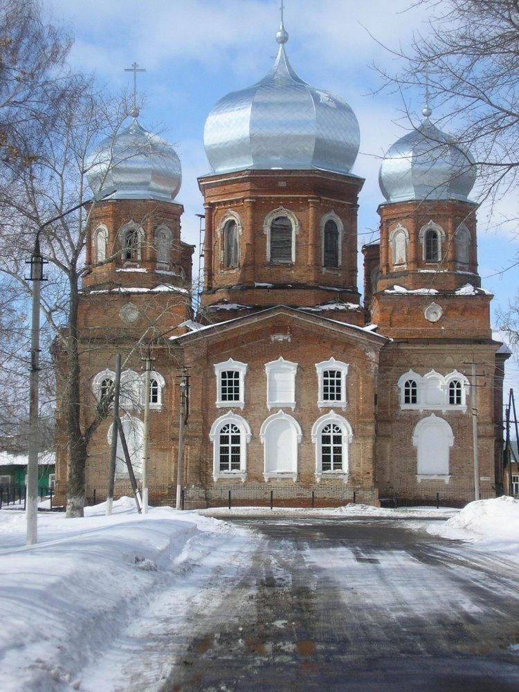 Фото Покровская церковь г.Петровск Саратовской области в феврале 2006 г..JPG. Россия, Саратовская область, Петровск, улица Плеханова, 77