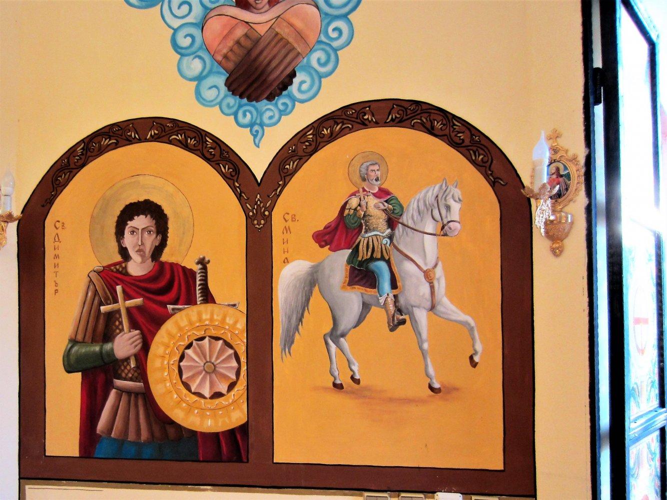 Фото Роспись в часовне Св. Николая Чудотворца.