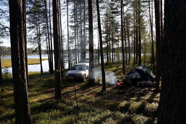 Фото оз. большое бережное. Россия, Ленинградская область, Unnamed Road
