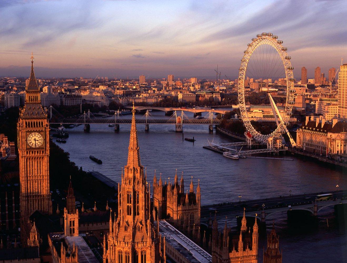 Фото Лондонский глаз. Великобритания, Лондон, Вестминстер-Бридж-роуд