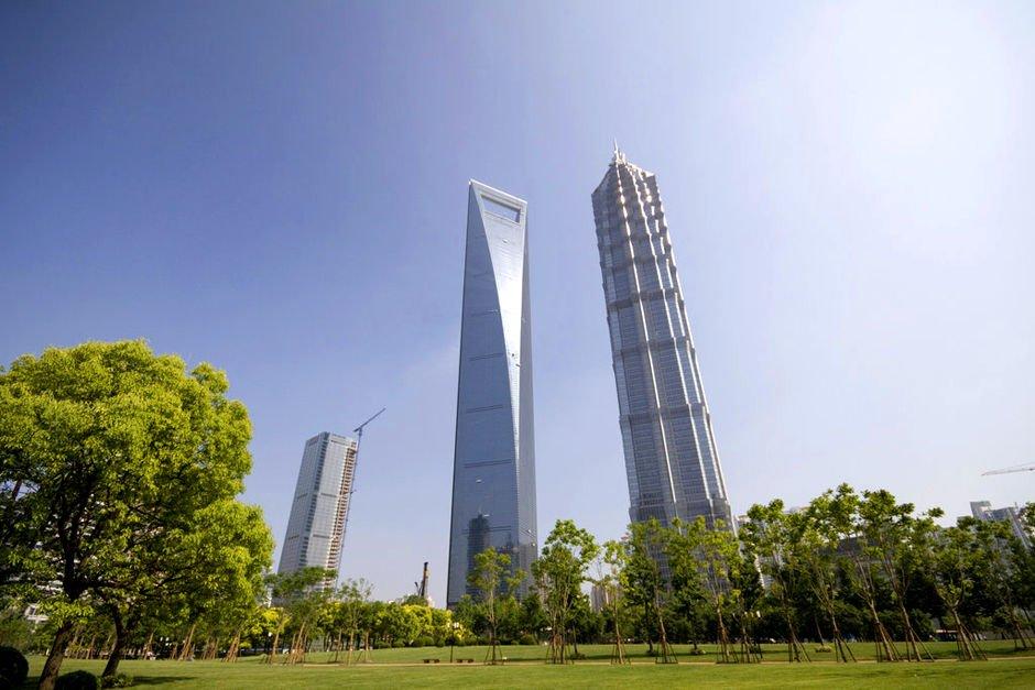 Фото Шанхайский всемирный финансовый центр. Китай, Shanghai Shi, Шанхай, Yin Cheng Zhong Lu