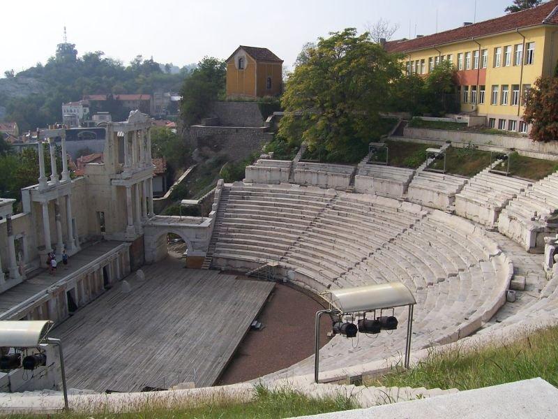 Фото Античный театр в Пловдиве. Болгария, Пловдив, 79