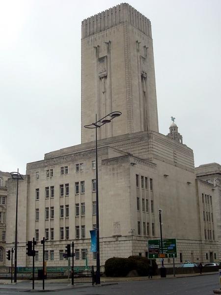 Фото Вентиляционная башня и остаток стены Джордж-дока, Ливерпуль. Великобритания, Ливерпуль, Georges Dockway
