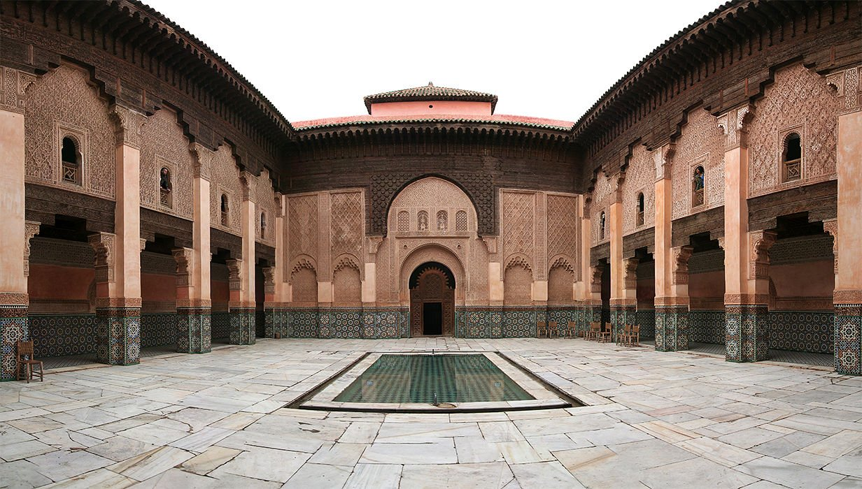 Фото Медресе бен Юсефа, Марракеш, Морокко. Марокко, Марракеш-Тенсифт-Эль-Хауз, Марракеш, Medina, Souk Ahl Fes