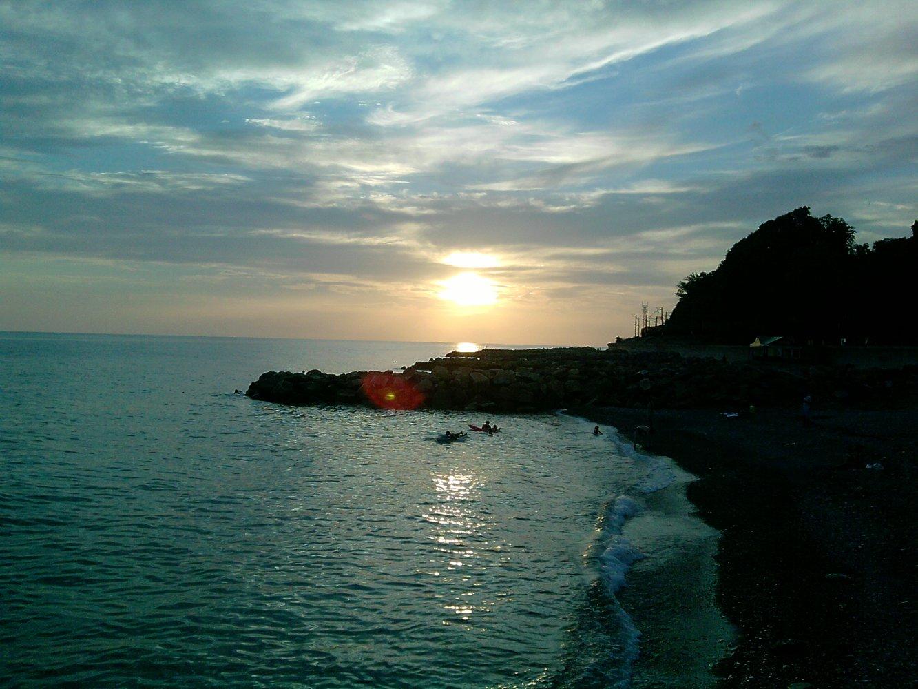 Фото пляжа поселка аше