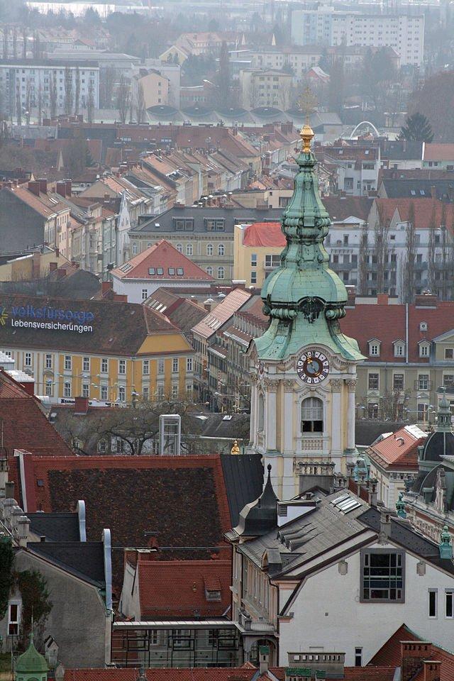 Фото Церковь Святой крови Иисуса, Грац. Австрия, Штирия, Грац, Меснергассе, 2