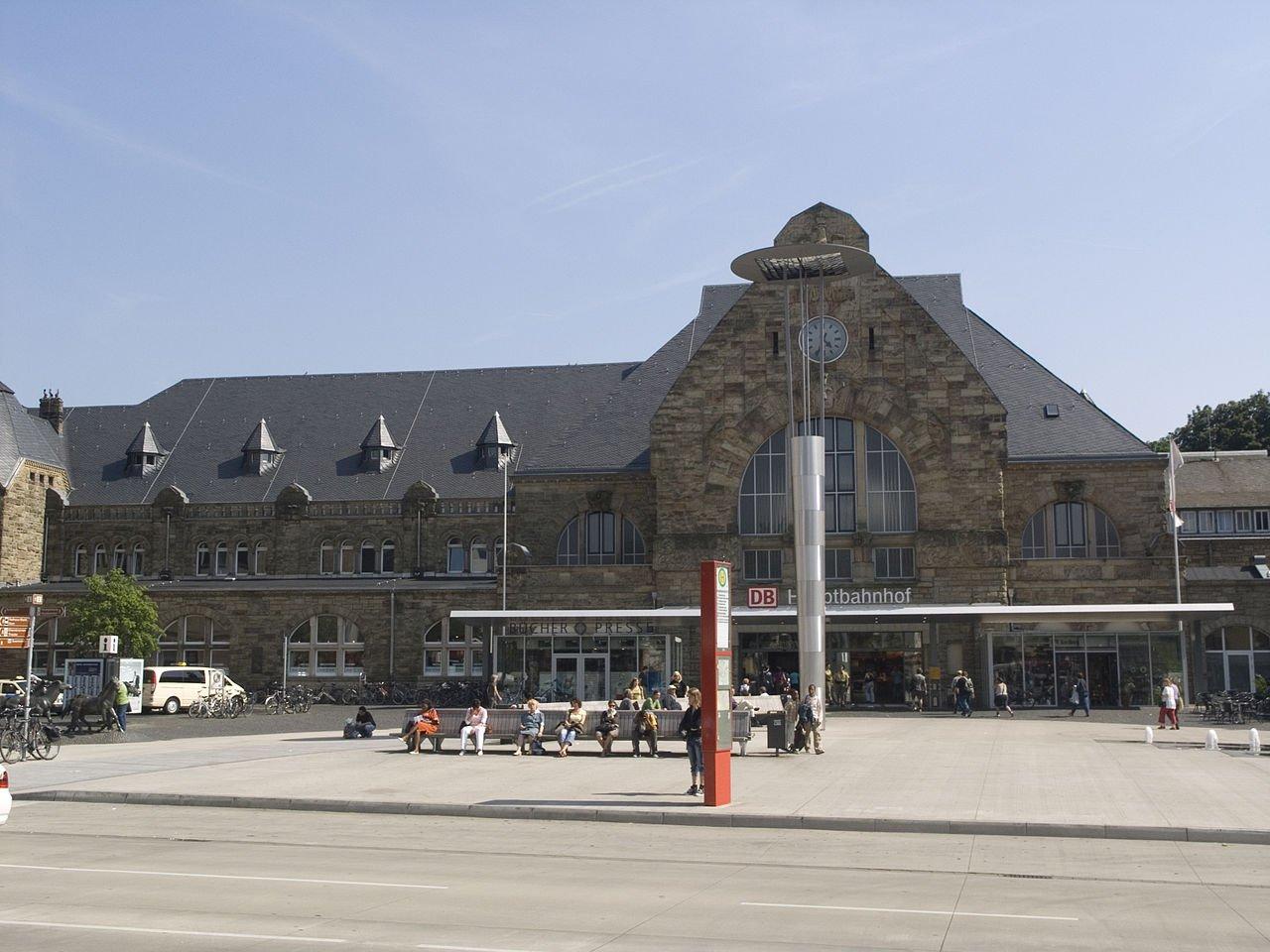 Фото Железнодорожный вокзал. Германия, Северный Рейн-Вестфалия, Аахен, Хаклендерштрассе
