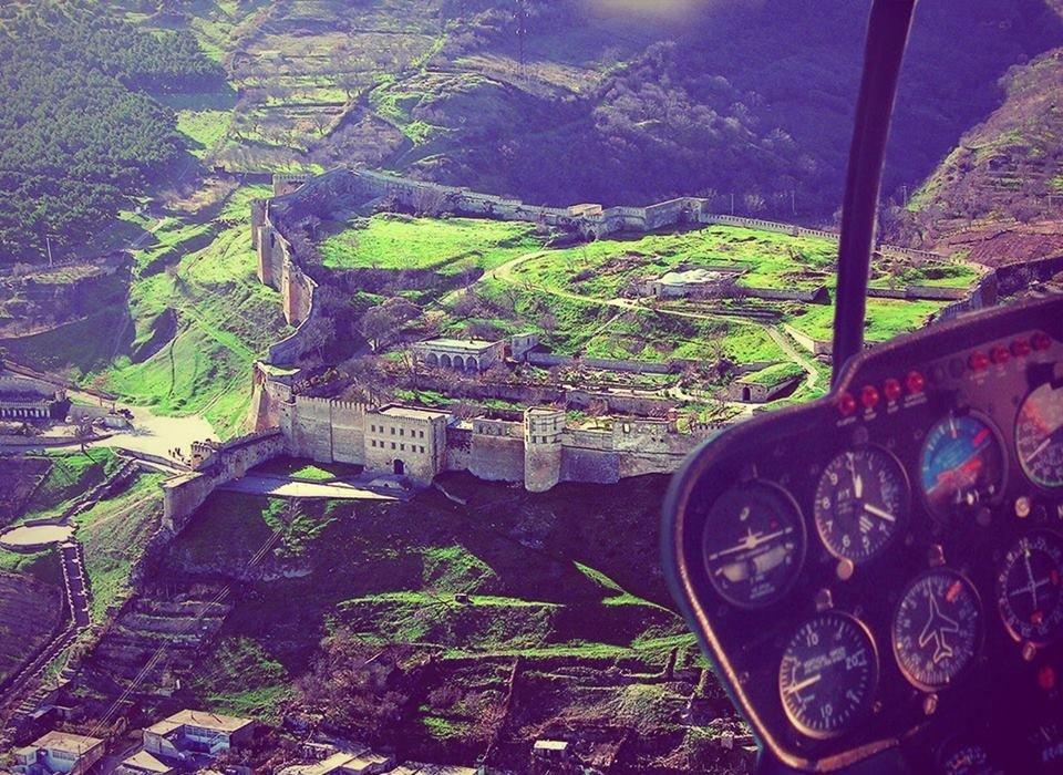 Фото Нарын-Кала с вертолета. Россия, Дагестан Републиц, Дербент, М29