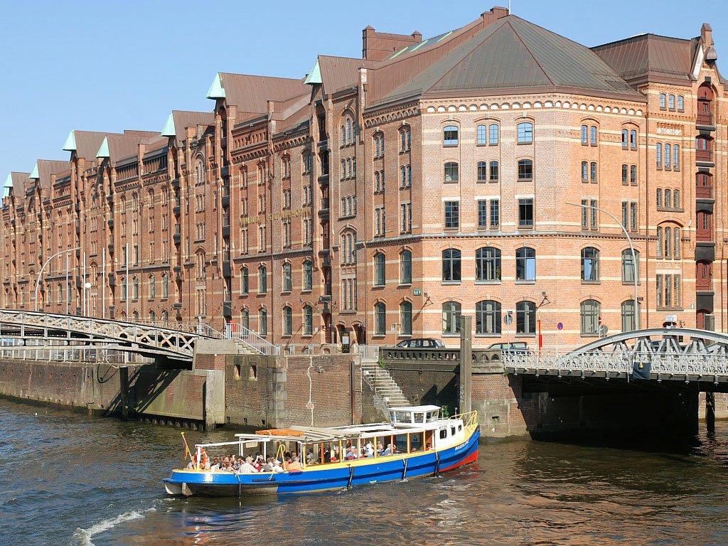 Обои шпайхерштадт, германия, гамбург. Города