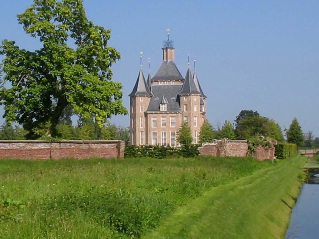 Обои нидерланды, замок, утрехт. Города