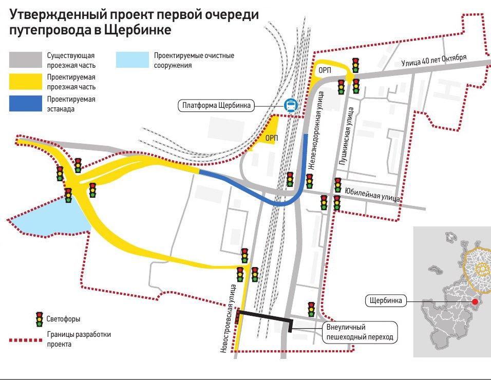 Схема рублевской эстакады