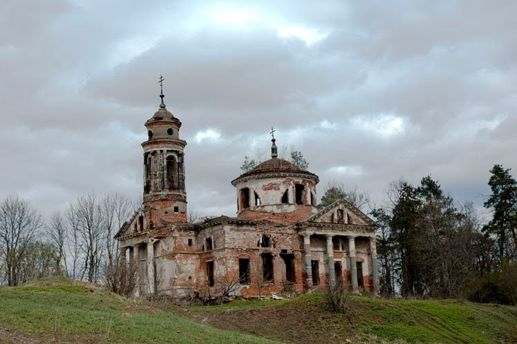Фото Усадьба Теплово, заброшенная Знаменская церковь. Россия, Московская область, Unnamed Road