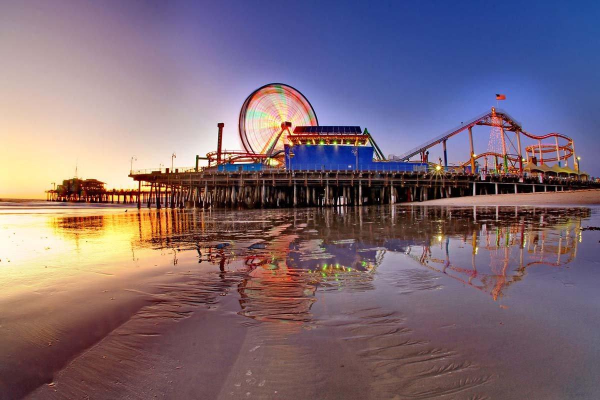 Фото Пляж. Соединенные Штаты Америки, California, Santa Monica, Ocean Front Walk, 930