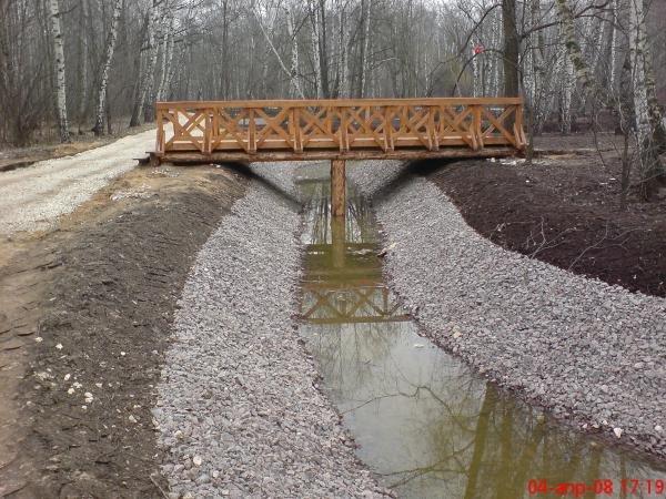 год, строительство моста через ручей своими руками озера