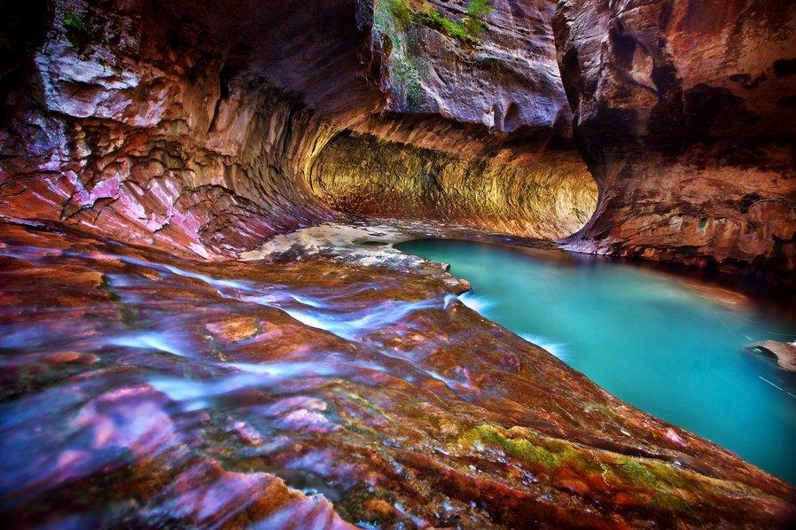 Фото Национальный парк Зайон. Соединенные Штаты Америки, Юта, Харрикейн, Ок Крик Драйв
