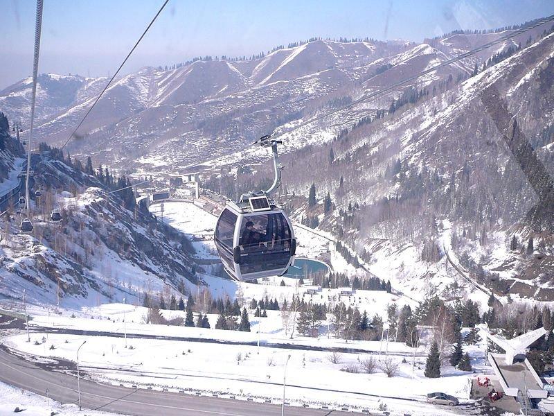 Фото Новая гондольная линия Медео-Чимбулак. Казахстан, Almaty Province, Almaty, Unnamed Road