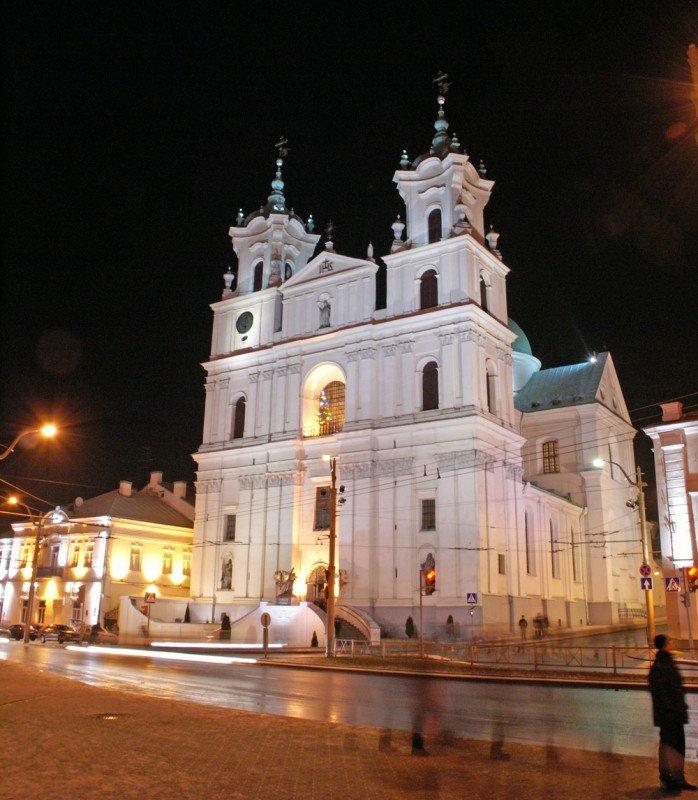 Фото Кафедральный собор Святого Франциска Ксаверия. Беларусь, Гродненская область, Гродно, улица Карла Маркса
