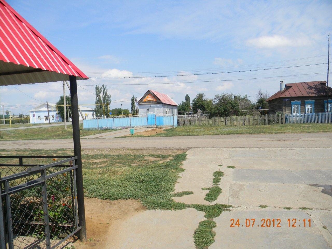 Фото вид на улицу Советская. Россия, Волгоградская область, Черебаево, Unnamed Road