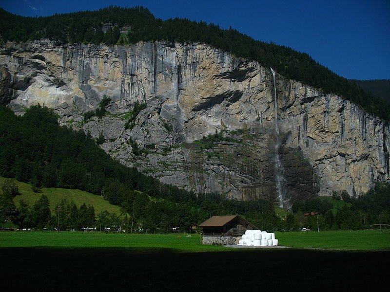 Фото Водопад Штауббах. Швейцария, Берн, Лаутербруннен, Байм Грэбли, 419