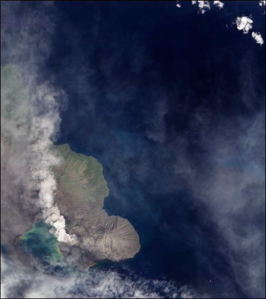 Фото вулкан Тавурвур. Папуа-Новая Гвинея, Восточная Новая Британия, Namanula Road